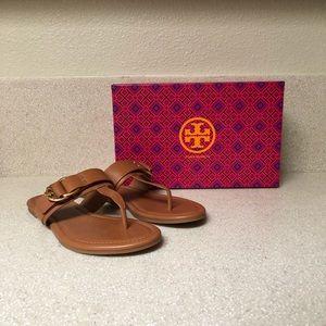 Tory Burch Marsden Flat Thong Sandal Tan sz 7